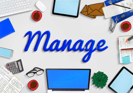 coordination: Manage Development Organization Controlling Concept