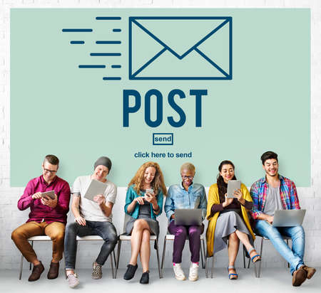 post mail: Post Mail Correspondence Online Message Communication Concept