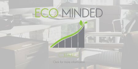 minded: Eco Minded Green Environment Ecology Concept Stock Photo