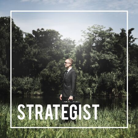 strategist: Strategist Planner Businessman Leader Investor Concept Stock Photo