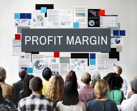 margen: Profit Margin Payments Revenue Budget Concept