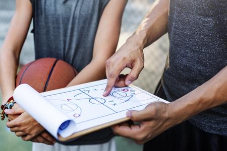 Basketball Player Sport Game Plan Tactics Concept 스톡 콘텐츠