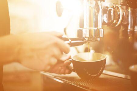coffee maker machine: Barista Coffee Maker Machine Grinder Portafilter Concept