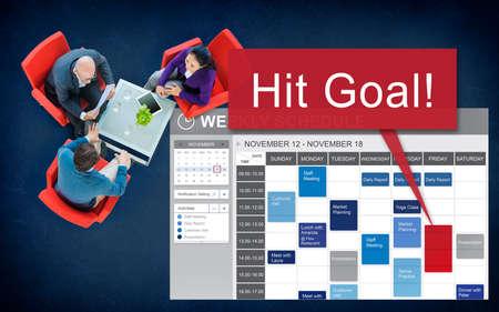 man business oriented: Hit Target Goal Aim Aspiration Business Customer Concept