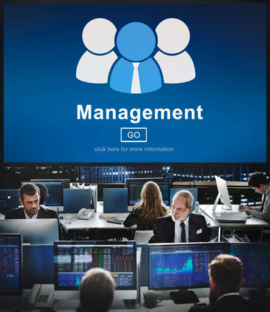 hectic: business, coaching, controlling, coordination, dealing, management, manager, managing, mentor, organization, process, roles of management, strategy, supervising, word Stock Photo