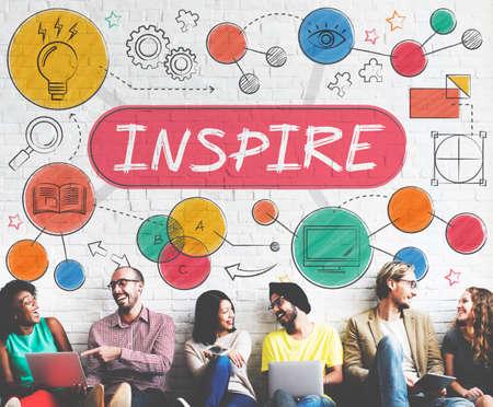 Inspire Aspiración la expectativa del objetivo Concepto Esperanza