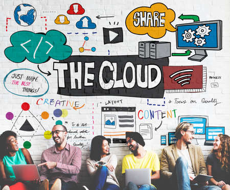 connectivity: The Cloud Connectivity Information Share Storage Concept Stock Photo