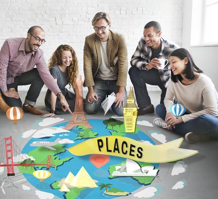 attraction: Places Attraction Destination Historical Tourism Concept