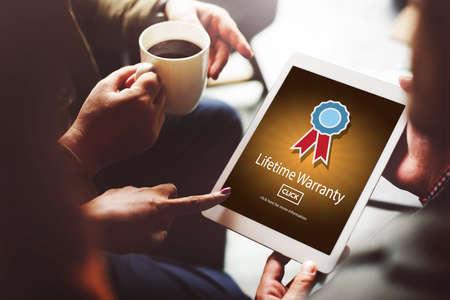 qualify: Lifetime Warranty Prize Condition Guarantee Concept