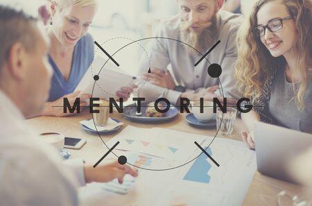guiding: Mentoring Guiding Leader Teacher Coach Helping Concept