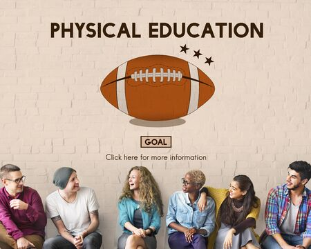 physical education: Physical Education Activity Cheerful Exercising Concept
