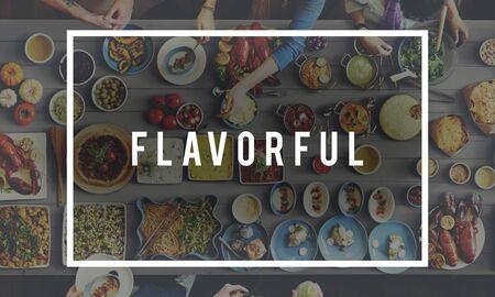 flavorful: Flavorful Food Beverage Freshness Health Concept