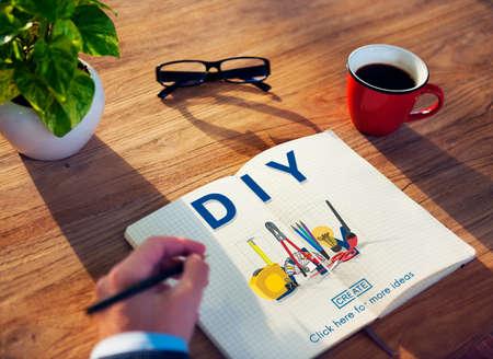 do it yourself: Do it yourself Handmade Handcraft Original Concept Stock Photo