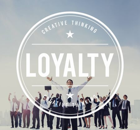 Loyalty Reliable Success Trustable Sincerity Concept Stock Photo