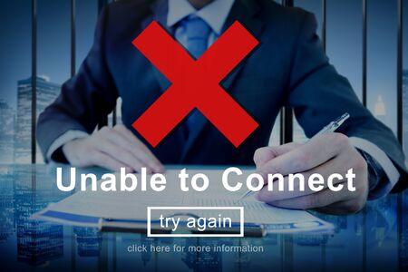 unable: Unable To Connect Networking Browsing Concept Stock Photo