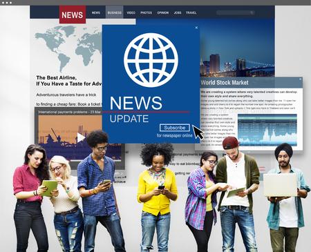journalism: News Update Journalism Headline Media Concept