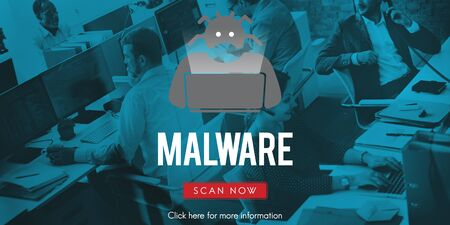 Spyware Malware Scam Spam Virus Concept Stock Photo