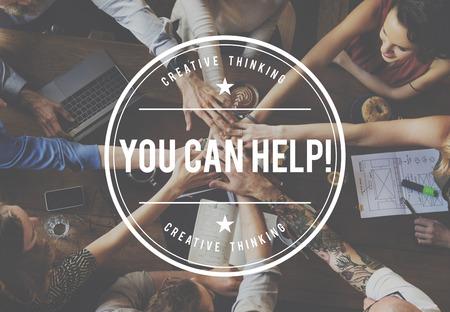 generosity: Usted puede ayudar a apoyar Assitance generosidad Contribuir Concept Foto de archivo