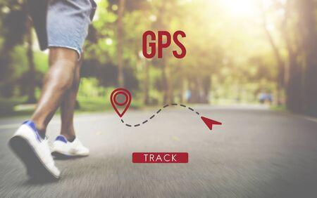 position d amour: Localisation Route GPS Direction Position Transport Concept Banque d'images