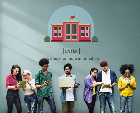 School Academy Campus College Study Education Concept Imagens