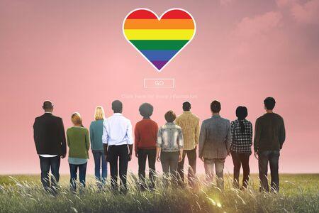 Lgbt orgulloso Homosexual Bisexual Transgénero Concept
