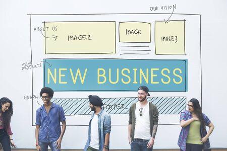 Nuevo inicio de negocios Planificación Visión Objetivos Concepto