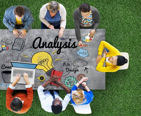 office meeting: Analysis Analytics Study Research Information Concept