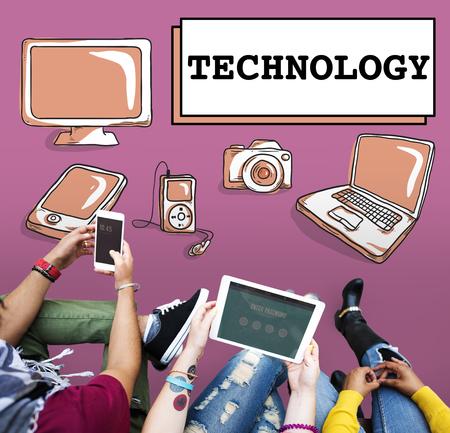 innovating: Technology Data Digital Internet Innovation Tech Concept Stock Photo
