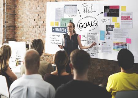 Goals Aim Inspiration Mission Target Vision Concept Stock Photo