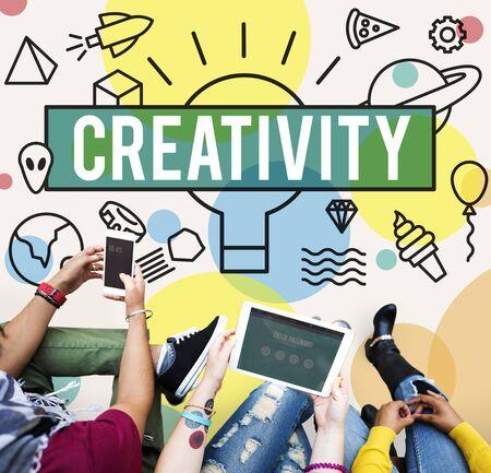 inspire: Creative Creativity Inspire Ideas Innovation Concept Stock Photo
