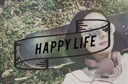 by feel: Happy Life Feel Good Happiness Live Concept