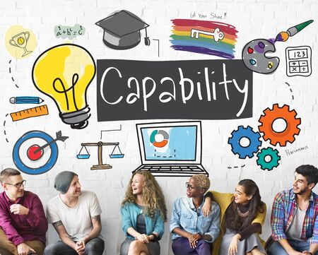 capability: Ability Achievement Inspiration Improvement Capability Cocnept Stock Photo