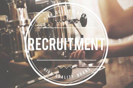 headhunting: Recruitment Hiring Manpower Headhunting Strategy Concept Stock Photo