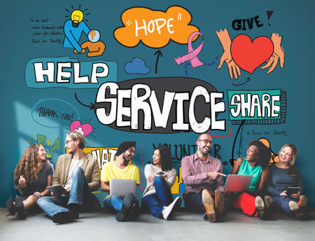 online service: Service Support Assistance Customer Delivery Concept
