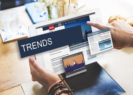 Update Trends Rapport Nieuws Flash Concept
