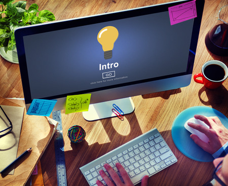 initiation: Intro Launch Start Create Innovation Web Online Concept