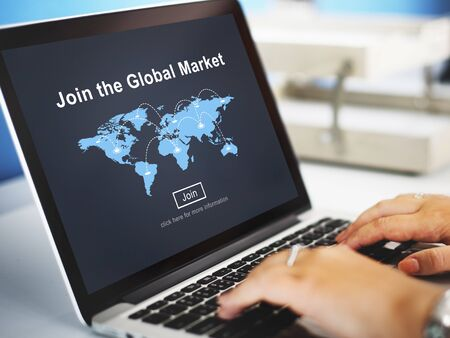 consumer: Global Market Commerce Commercial Consumer Concept Stock Photo