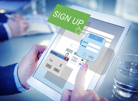registry: Sign-In Sign-Up Join Registry Membership Concept