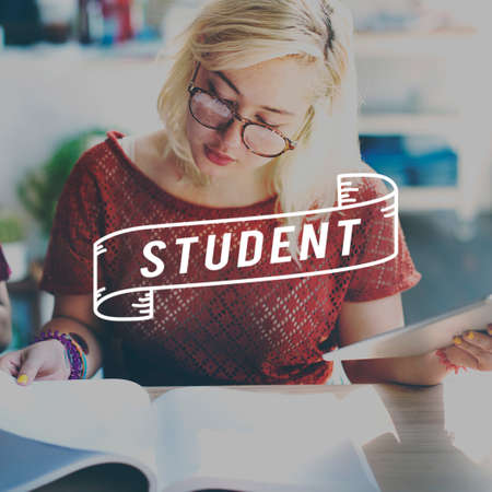 book reviews: Student Studying Academic Education School Concept Stock Photo