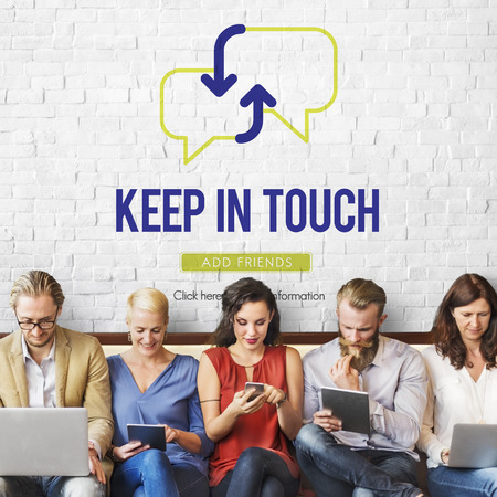 Keep in touch concept with group of people