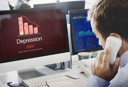 computer support: Depression Disorder Downturn Illness Medicine Concept