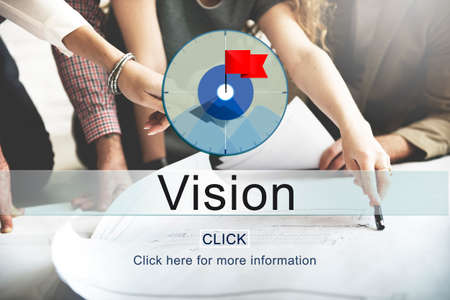 man business oriented: Goals Aim Purpose Mission Target Concept Stock Photo