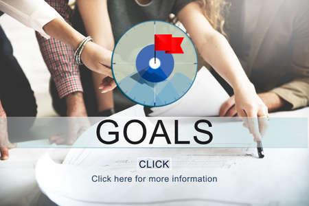 man business oriented: Goals Success Aim Aspiration Concept Stock Photo
