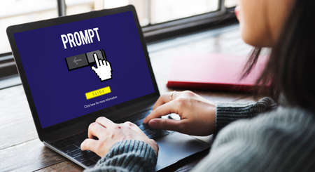prompt: Information Technology Computer System Concept Stock Photo