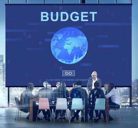 place of work: Budget Money Accounting Financial Concept