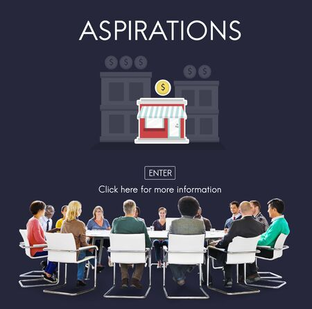 aspirations: Aspirations Launch Startup New Business Concept