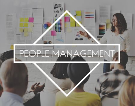 expertise concept: People Management Human Resources Expertise Concept Stock Photo