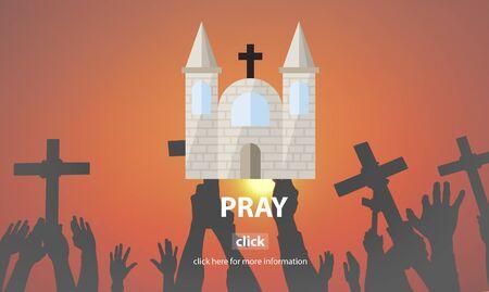 confession: Pray Prayer Religion Spiritual Confession Faith Concept