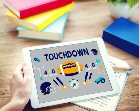 touchdown: Touchdown American Football Rugby Game Concept