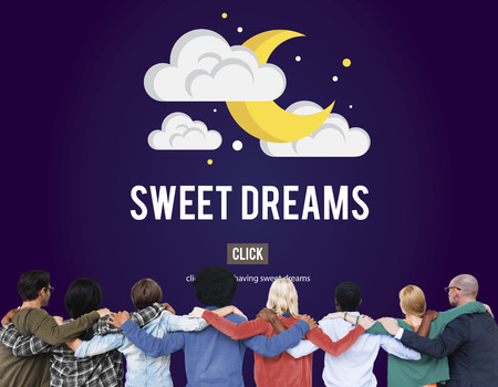 huddle: Sweet Dreams Happiness Ilusion Relief Good Night Concept